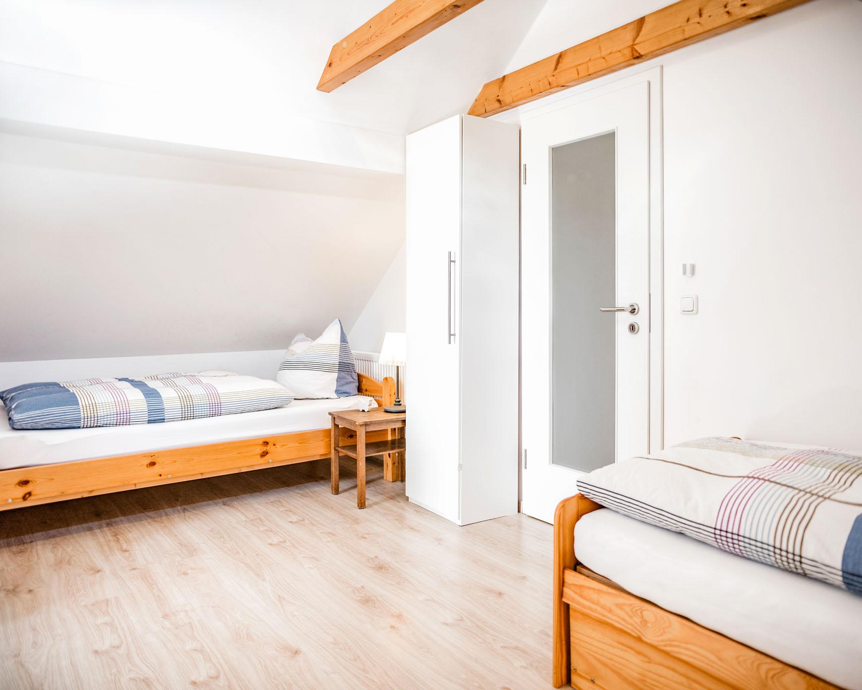 Ferienwohnung - Betten Durchgangszimmer